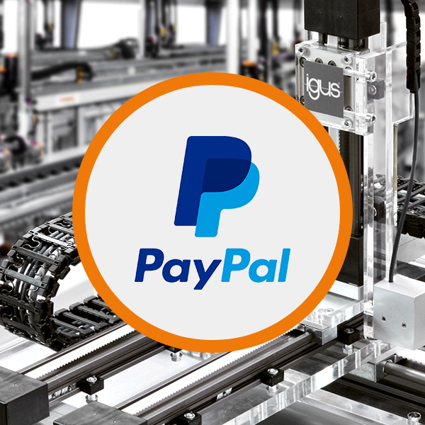 Welcome PayPal! Now available in the igus® webshop!