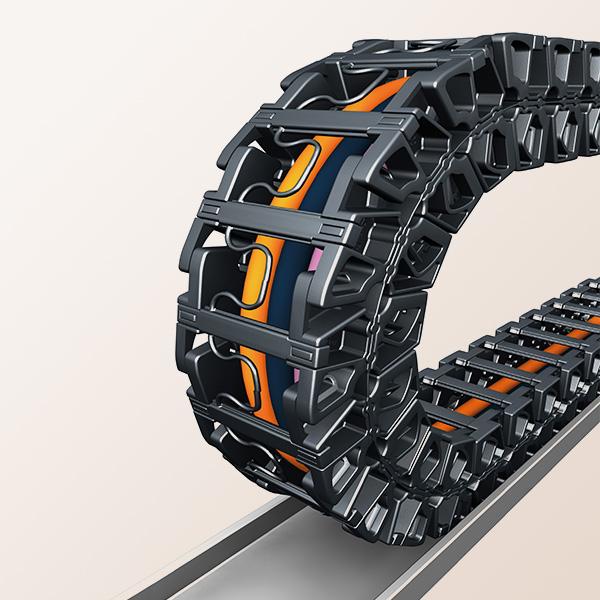 Bend radius calculator for energy chains