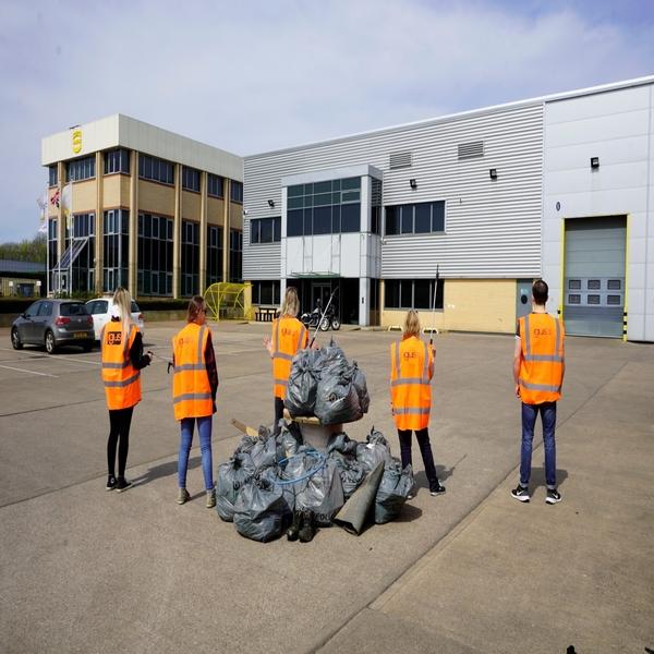 Litter picking around the UK