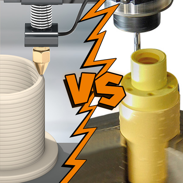 Which is better, 3D printing or CNC machining?